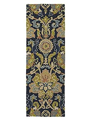 Kaleen Home & Porch Indoor/Outdoor Rug, Navy, 2' x 6' Runner