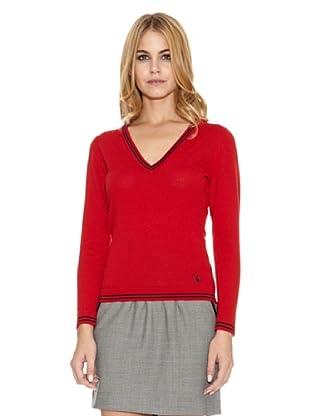 El Ganso Jersey Cuello Pico (Rojo)