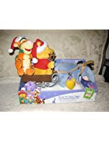 Disney 2007 Winnie The Pooh Tigger And Eeyore Sleigh Model# 10043 Ride Plays Up On The Housetop & Here Comes Santa Claus