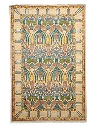 Darya Rugs Modern Oriental Rug, Light Beige, 5' 1