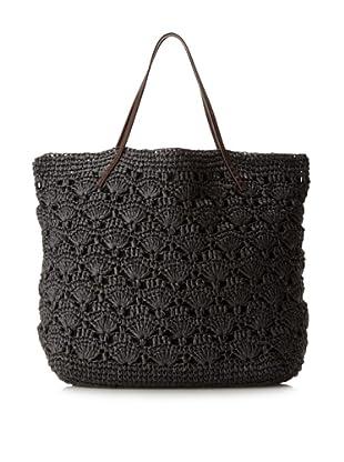 Michael Stars Lace Crochet Tote (Black)