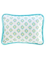 New Arrivals Aztec Accent Pillow, Aqua