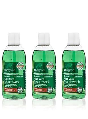 Dr.Organic Set 3 Enjuague Bucal de Aloe Vera 500Ml (u)