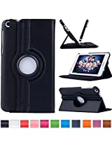 ProElite(TM) 360 Degree Rotatable Flip case cover for Asus Fonepad FE171 Tablet (Black)