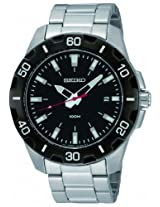 Seiko Analog Black Dial Men's Watch - SGEE49P1