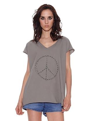 The Hip Tee Camiseta Peace + Star (Gris Oscuro)
