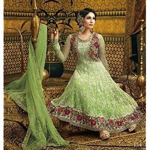 Lifestyle Megamart Green Anarkali Suit