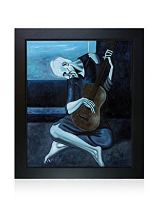 Pablo Picasso The Old Guitarist Framed Oil Painting, 20 x 24