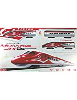 Little grin Electric Metro Bullet Train Set with Tracks 1:108 Scale Model Train Toy for Kids
