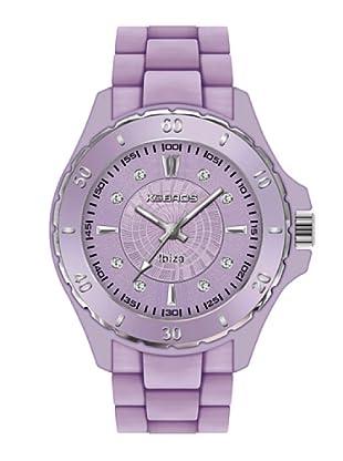 K&BROS 9551-8 / Reloj de Señora con correa de caucho morado