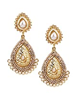 Ethnic Indian Bollywood Jewelry Set Traditional Fashion Pearl EarringsISREA050WH