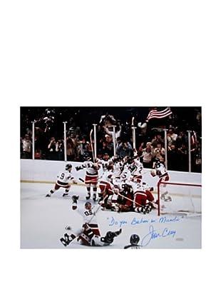 Steiner Sports Memorabilia Signed USA Hockey Jim Craig 1980 Celebration Photo
