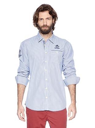 NZA New Zealand Auckland Camisa Manga Larga Arisba (Azul Eléctrico)