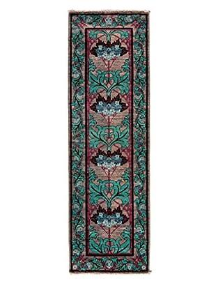 Darya Rugs Arts & Crafts Handmade Rug, Silver, 2' 6