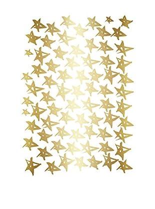 Surdic Wandtattoo Stars goldfarben