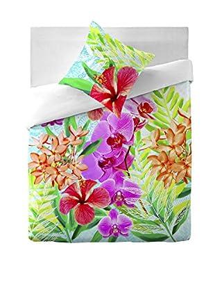 COSTURA Bettdecke und Kissenbezug Orchids
