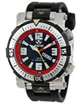"Reactor Men's 55801 ""Poseidon"" Stainless Steel Watch with Black Rubber Strap"