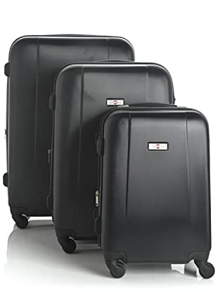 Sphera Set 3 trolley 4 ruote (Nero)