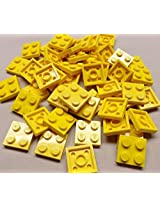 DEAL OF THE DAY!!! DO NOT MISS OUT!x50 NEW Lego Yellow Baseplates 2x2 Brick Building Plates