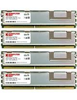 Komputerbay 8GB (4x 2GB) DDR2 PC2-5300F 667MHz CL5 ECC Fully Buffered 2Rx4 FB-DIMM (240 PIN) w/ Heatspreaders