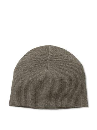 Sofia Cashmere Men's Cashmere Reversible Hat (Brown/Oatmeal)