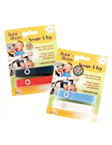 Baby Buddy 4 Count Secure-A-Toy Straps - Navy/Red/Blue/White