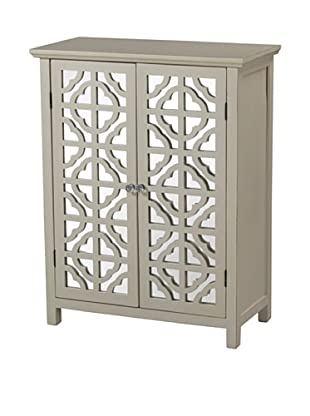 Artistic Vivienne Mirrored Cabinet, Off-White