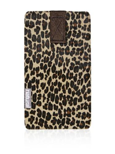 Natural iPhone Cowhide Case (Leopard Print)