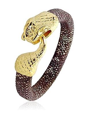 Swarovski Elements by Philippa Gold Pulsera Snake Bracelet Metal Dorado