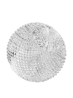 Go Home Small Cross-Cut Ball, Etched Glass