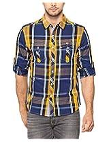 Spykar Men Cotton Yellow Casual Shirt (X-Large)