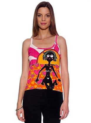 Bolero Ibiza Camiseta Dalat (Rosa / Naranja)