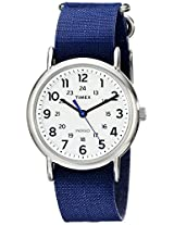 Timex Unisex TW2P658009J Weekender Silver-Tone Watch with Blue Nylon Band