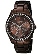 XOXO Women's XO5458  Rhinestone Accent Chocolate Brown Analog Watch