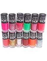 V-Color Nail Show Polish Set of 12 Pcs.