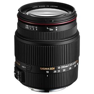【クリックで詳細表示】Amazon.co.jp|SIGMA 高倍率ズームレンズ 18-200mm F3.5-6.3IIDC OS HSM ニコン用 APS-C専用|カメラ・ビデオ通販