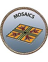 """Keepsake Awards Mosaics Gold Award Pin """"Creative Arts and Hobbies Collection"""" 1 inch dia"""
