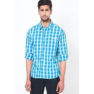Aqua Blue Casual Shirt