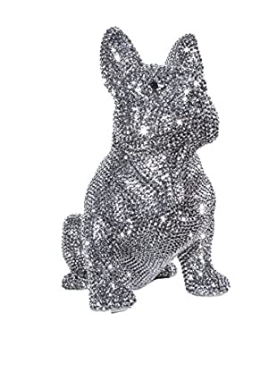 Interior Illusions Rhinestone French Bulldog Bank, Graphite