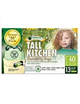 Green-n-Pack Tall Kitchen Trash Bags, 40 Count