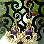 Purple Pearl Pearl Fashion Dangle & Drop Earring