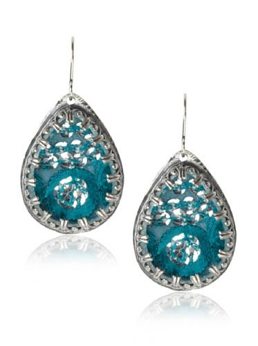 Presh Silver & Jay Teardrop Earrings