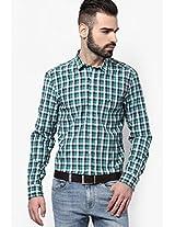 Green Striped Casual Shirt