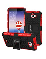TARKAN Hard Armor Hybrid Rubber Bumper Flip Stand Rugged Back Case Cover For Micromax Canvas Nitro A310 / A311 (Red)