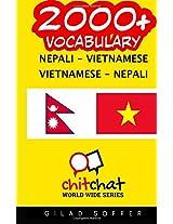2000+ Nepali - Vietnamese Vietnamese - Nepali Vocabulary