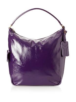 Yves Saint Laurent Women's Patent Leather Tote, Violet
