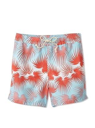 Strong Boalt Men's Fan Palms Classic Swim Trunks (Coral Sky)