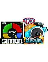 Basic Fun Simon Electronic Memory Game & Hasbro Bop It! Beats Musical Memory Game Deluxe Gift Set Bundle 2 Pack