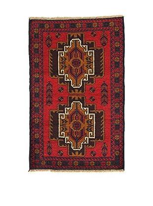 L'EDEN DEL TAPPETO Alfombra Beluchistan Rojo/Multicolor 90 x 141 cm