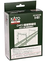 Kato (6 pieces) (HO) double track overhead line pole HO gauge 5-051 (japan import)